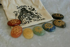 Chakra balancing large crystal set with pouch-Healing Reiki/Crystal therapy
