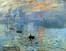 Impression Sunrise by Claude Monet. Fine Art Repro Made in U.S.A Giclee Prints