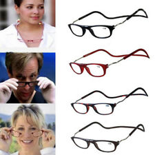 Portable Folded Magnetic Click Reading adjustable Hang Around Neck Wear Glasses