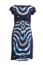 OLIAN Maternity Women's Black Abstract Print Colorblock Dress $148 NWT