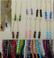 CHOICE of Gemstones INTERCHANGEABLE Dangle Earring Charms Jackets STERLING or YG