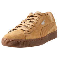 Puma Basket Classic Weatherproof Mens Trainers Mustard New Shoes