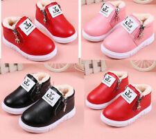 2017 Winter Kids Girls Fashion Shoes Toddler Baby Warm Snow Booties Shoes Soft