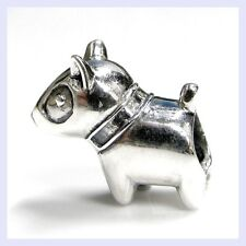 925 Sterling Silver Pit Bull Dog Puppy Pet Pup Bead for European Charm Bracelet