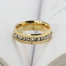 Free Shipping CZ Stainless Steel Ring Mens Jewelry Titanium Ring Engaentment