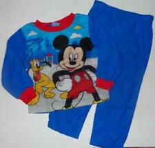 MICKEY MOUSE Toddler Boys 2 2T 3 3T Flannel Pjs Set PAJAMAS Shirt Pants DISNEY