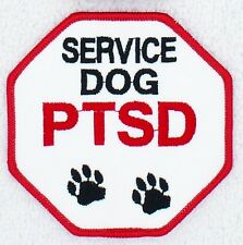 """PTSD Service Dog Paws Stop Sign Patch 3"""" Disabled Veteran Medical Support"""