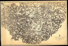 Poster Print Antique American Cities Towns States Map Petersburg Five Forks