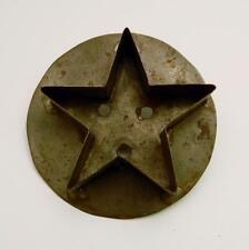 Antique Soldered Tin Flat Back Star Cookie Cutter with Handle