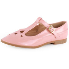 Dolcis Mary Janes T Bar Womens Sandals Pink New Shoes