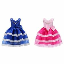 Flower Girl Princess Dress Kid Party Pageant Wedding Bridesmaid Cosplay Costume@