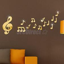 Creative Musical Note Wall Art Mirror Stickers Kids Home Bedroom DIY Decor