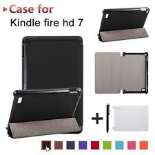 Folding Leather Case Cover+Film+Stylus For Amazon Kindle Fire 7 2017 Tablet