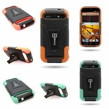 Tough Dual Layer Kickstand Hybrid Phone Cover Case for ZTE Warp Sync