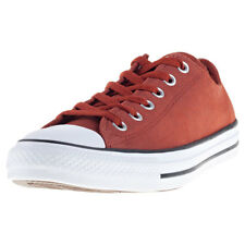 Converse Chuck Taylor All Star Ox Mens Brown Leather Casual Trainers Lace-up