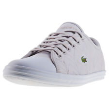 Lacoste Ziane Sneaker 417 Womens Grey Textile Casual Trainers Lace-up New Style