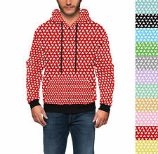 Mouse Ears Polka Dots Men Zip Up Hoodie XS - 3XL All-Over-Print