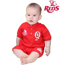 QLD Reds Shortie Footysuit Sizes 000 - 1