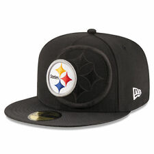 PITTSBURGH STEELERS NFL OFFICIAL SIDELINE NEW ERA 59FIFTY BLK FITTED HAT/CAP NWT