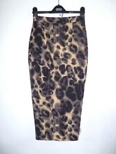 NEW ABBEY CLANCY Size 6 Animal Print Sexy Skirt - Zip Back WOW PARTY Matalan