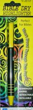 YELLOW Bible or Book Dry Highlighter Refillable, Push Button Advance 992600