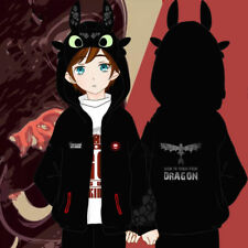 Mens Hooded Hoodie Cosplay Anime How to Train Your Dragon 2 Toothless Sweatshirt