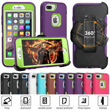 For iPhone 6s/7/8 Plus Armor Shockproof Rugged + Belt Clip Holster Cases Cover