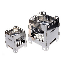 Portable Stainless Steel  Wood Burner Stove Outdoor Camping Hiking Picnic Stove