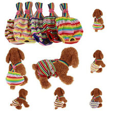 Pet Dog Puppy Rainbow Striped Sling Comfy Sanitary Pants Underwear Diapers Panty