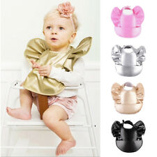 Cute Kid Infant Baby Pu Bib Lunch Feeding Waterproof Saliva Dripping Bibs
