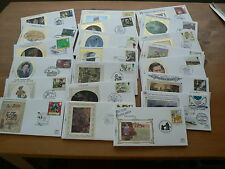 Benham Silk GB First Day Cover Sets, 1992, 1993, 1994, Sold Individually, Small