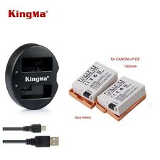 Canon LP-E8 LPE8 Battery + Charger Kit for Canon EOS 700D 650D 600D 550D T5i T4i