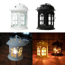 Wrought Iron Hanging Lantern Tea Light Candle Holders Candlestick Party Wedding