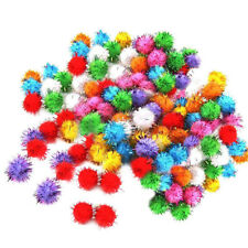1000 DIY Christmas Fluffy Pom Poms Mixed Colours Pom Poms xmas tinsel festive