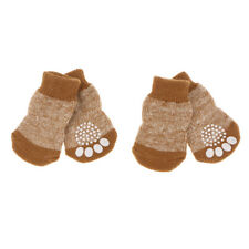4pcs Dogs Puppies Winter Cold Weather Cotton Socks Anti-slip Paw Protector Boots