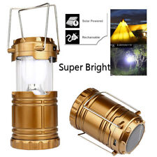 Solar 6 LED USB Camping Lamp Rechargeable Portable Tent Light Torch Lantern