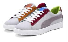 Ladies Fashion Suede Lace Up Colorful Athletic Student School Preppy Sneakers