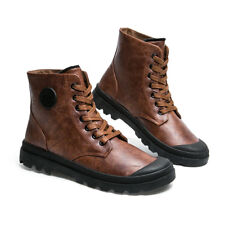 Men's Non-slip Ankle Boots Winter Outdoor Lace Up Leather New Martin Boots a30