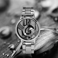 New Fashion Simplicity Large Sliver Face Quartz Wirst Watch with Belt Watch Band