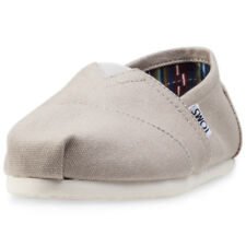 Toms Classic Womens Grey Canvas Casual Slip On Slip-on Genuine Shoes New Style