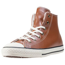 Converse Chuck Taylor All Star Fur Hi Kids Trainers Tan New Shoes