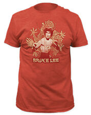 Bruce Lee - Chinese Dragon Heather Red T-shirt - BRAND NEW - Official