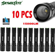 Tactical 10PCS Zoomable 15000LM 3 Modes T6 LED Flashlight Torch Lamp Light New