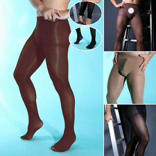 Pouch Footless Stretch Open Stocking Sexy L/xl Pantyhose Underwear Tights Sheer