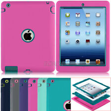 Extreme Shockproof Hybrid Heavy Duty Rubber Hard Case Cover For Apple iPad 2 3 4