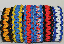 Paracord Bracelet NHL Inspired Eastern Conference Team Colors Custom Fit Hockey