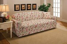 """CLOSEOUT---PINK FLORAL COVERS FOR SOFA COUCH LOVESEAT CHAIR RECLINER-""""STRETCHES"""""""