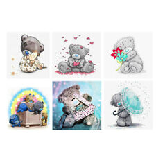 Cartoon Bear 5D Diamond Painting By Number Cross Stitch Kit For Home Decor