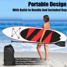 10x2.5ft Inflatable Stand Up Paddle Board Set SUP Adjustable Paddle Backpack