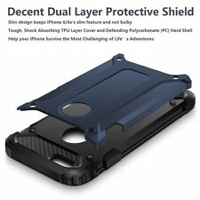 iPhone X Heavy Duty Armor Hybrid Shockproof Case Cover with Tempered Glass.